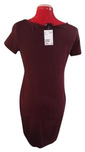 H&M short dress Burgundy Sheath on Tradesy