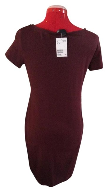H&M short dress Burgundy Sheath Cotton Spandex Machine Washable on Tradesy