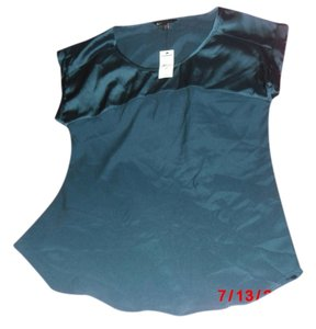 Express Satin Teal Tunic