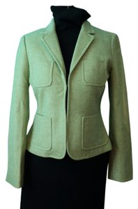 J.Crew Wool Jacket Tweed Green Blazer