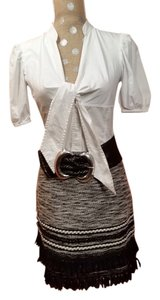 H&M Skirt Black, white and silver undertones