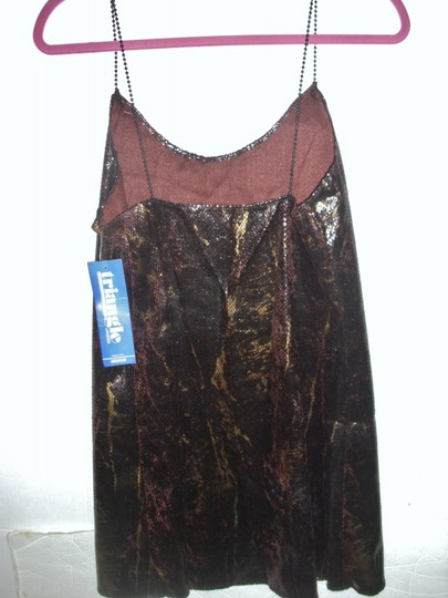 Triangle Sexy leopard casual leisure short metallic brown nightie bridal gift Image 4