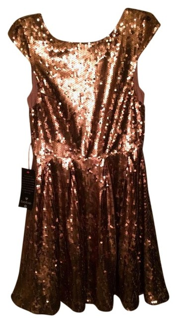 Item - Copper Mid-length Cocktail Dress Size 10 (M)