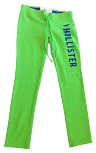 Hollister Sweat Flare Straight Pants Neon Green