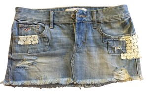 Hollister Mini Skirt Light Denim