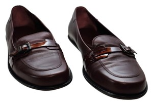 Tod's Loafers Leather Made In Italy Maroon oxblood Flats