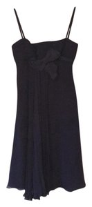 Prada Silk Pleated Bow Detail Dress