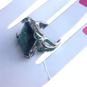 Charles Winston CHARLES WINSTON EMERALD 925 STERLING SILVER RING SIZE 9