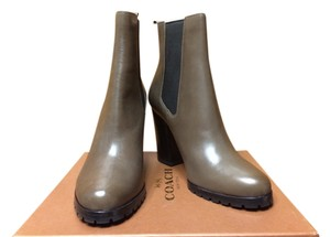 Coach Leather Smoke Boots