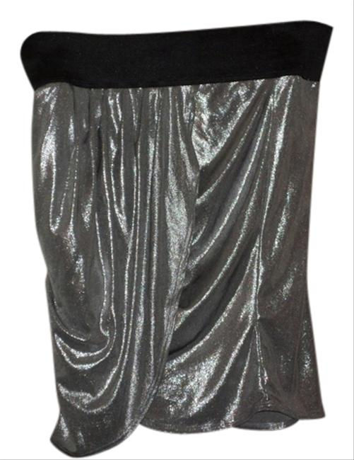Frederick's of Hollywood Mini Skirt Silver