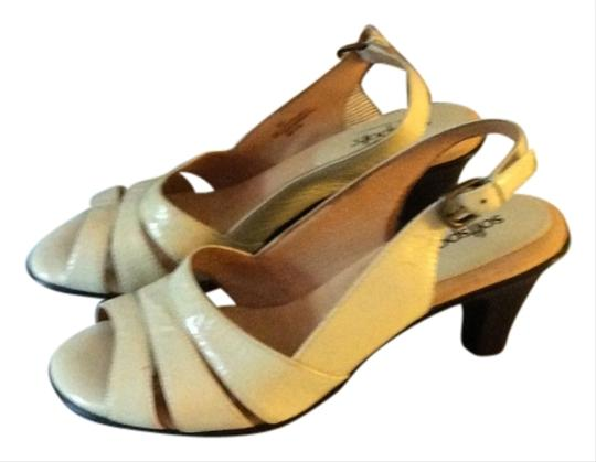 Softspots Patent Leather Genuine Leather Latex Pillowtop Comfort Nappa White Sandals