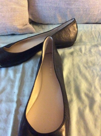 Nine West Cap Patent Toe Leather Two-tone Black Flats