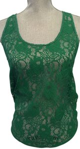 Collective Concepts Lace Top Green