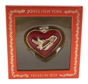 Jones New York Holiday Gold Tone Peace on Earth Holiday Keepsake Box
