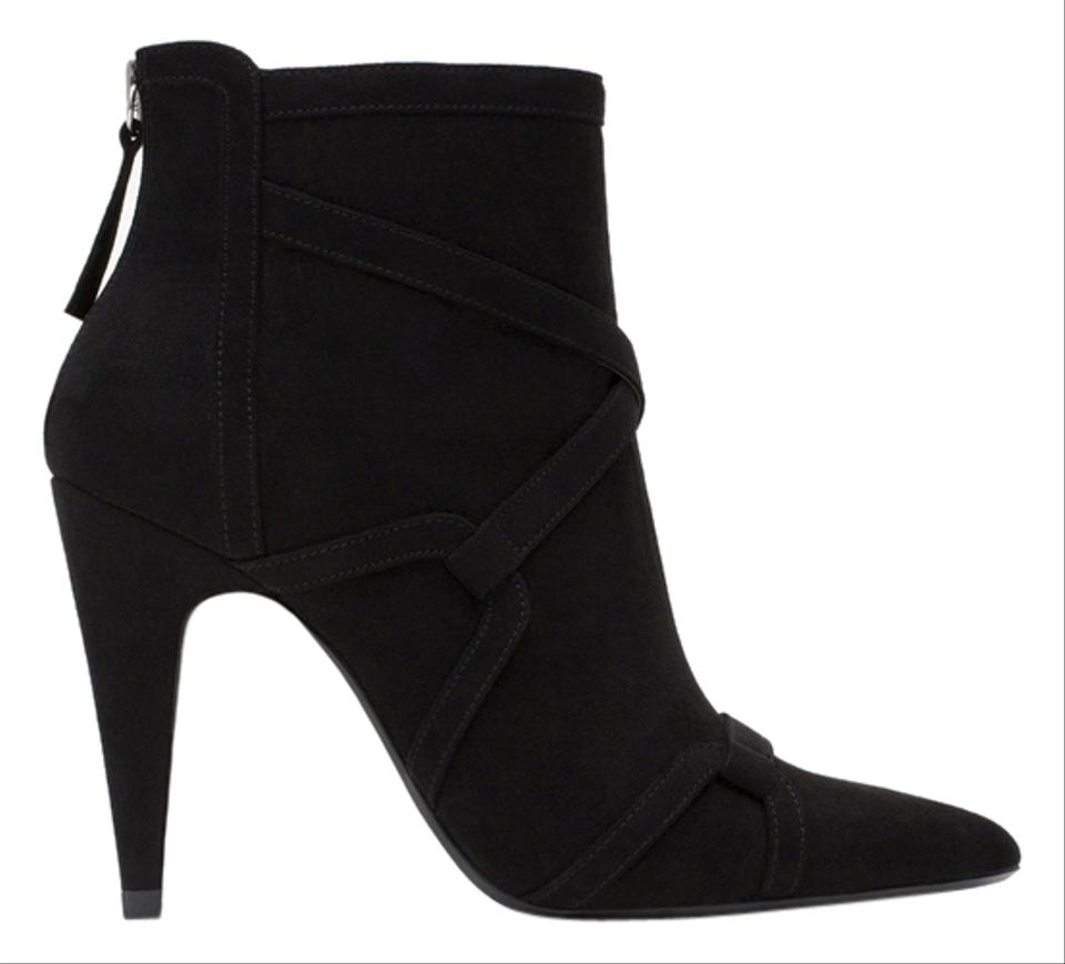 fdbc25ca95ba8 Zara Black New Tags Suede Heels Ankle Boots/Booties Size EU 38 (Approx. US  8) Regular (M, B)