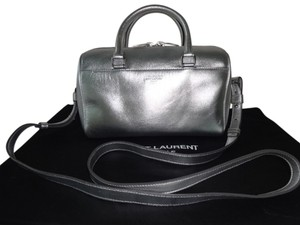 Saint Laurent Silver Messenger Bag