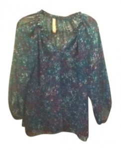 Eight Sixty Top Purple/Blue multi