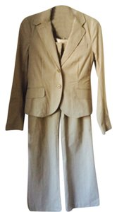 Theory Theory Tan and Cream Seersucker Suit.
