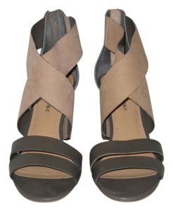 Audrey Brooke Beigh & Green Sandals