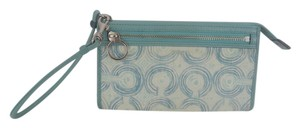 Coach AUDREY WRISTLET WALLET LARGE BLUE