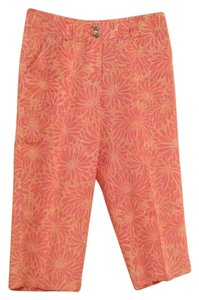 Sigrid Olsen Capris Pink floral with white and salmon