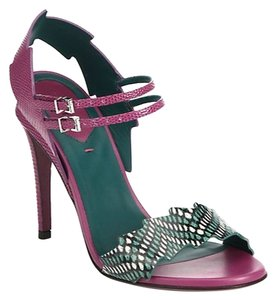 Fendi Magenta Teal Black Sandals