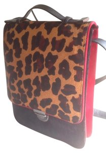 Lucchetto leopard/red Messenger Bag