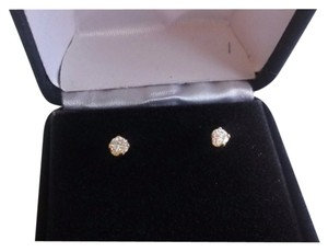 Other YELLOW 14 K GOLD DIAMOND 0,55 CT STUDS EARRINGS NEW WITH OUT TAG