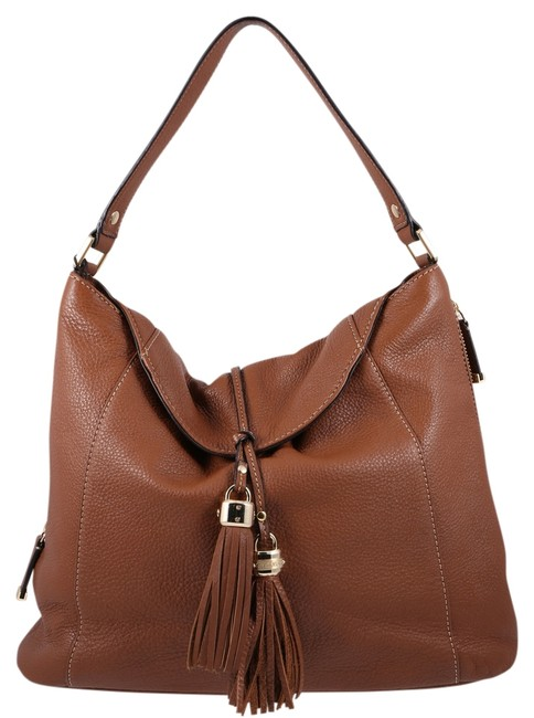 Item - Mary Pebble Camel Brown Leather Hobo Bag