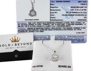 IGI Cert Diamonds Diamond Necklace IGI Certified