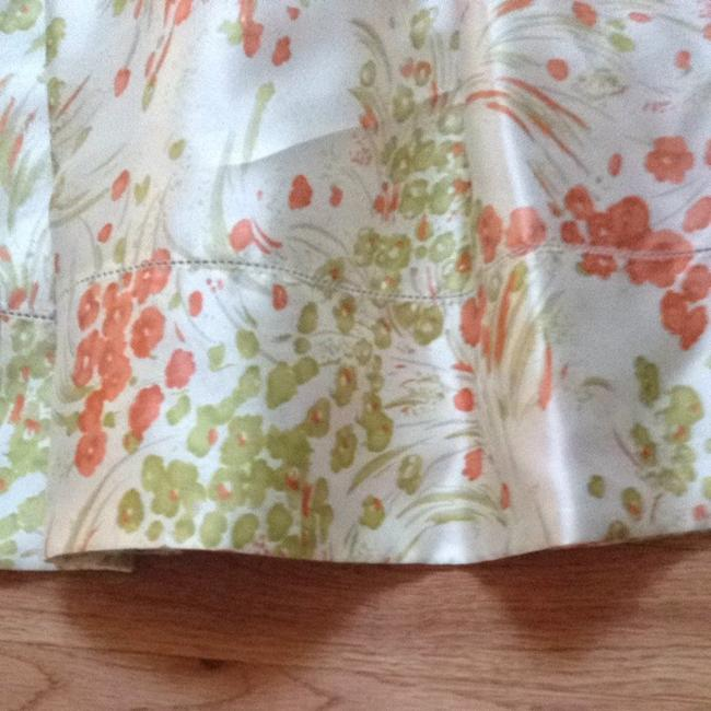 Talbots short dress Green Orange White Fall Spring Wedding Church Sunday Brunch on Tradesy