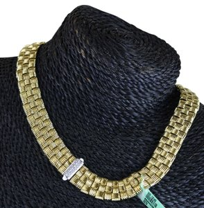 Roberto Coin Roberto Coin Appassionata 3 ROW 18k Gold and Diamonds Necklace