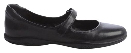 Prada Leather Mary Jane Black Flats