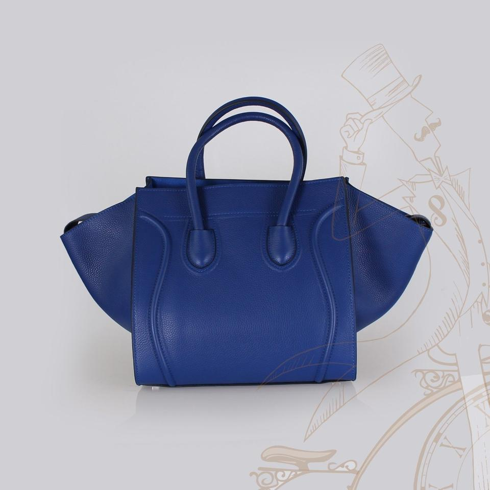 a0283cfcdd Céline Cabas Phantom Blue Leather Tote - Tradesy