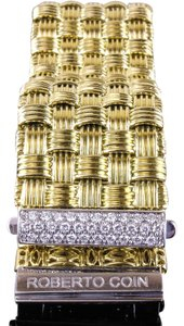 Roberto Coin Roberto Coin 5 Row Appassionata 18k Gold and Diamond Bracelet