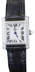 Cartier Cartier Tank Francaise Ladies Diamond and 18K White Gold Watch