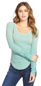 Free People Cuff Thermal Sweater