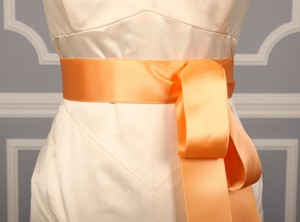 Light Apricot Orange Ribbon Sash 2