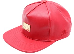 Chuck Original * Chuck Originals Red Leather Adjustable Strapback Hat