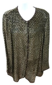 Marina Rinaldi Gold Black Cocktail Top BLACK/GOLD