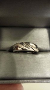Zales Mens White Gold Wedding Band