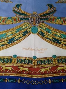 Cartier 100% Silk Must de Cartier Scarf Made in Italy with Jewels