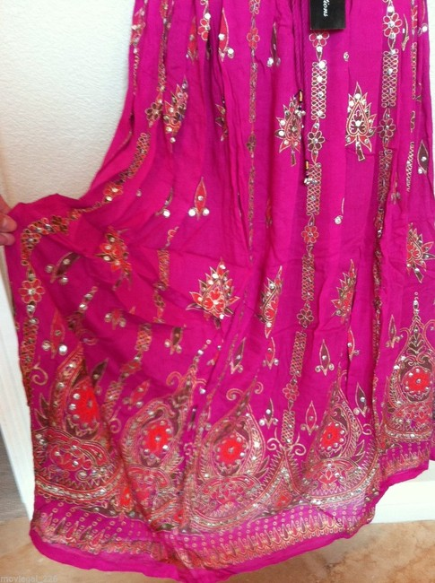 IK Collections Maxi Skirt Pink