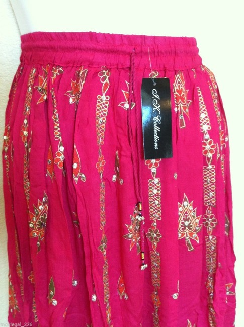 IK Collections Maxi Skirt Pink Image 5