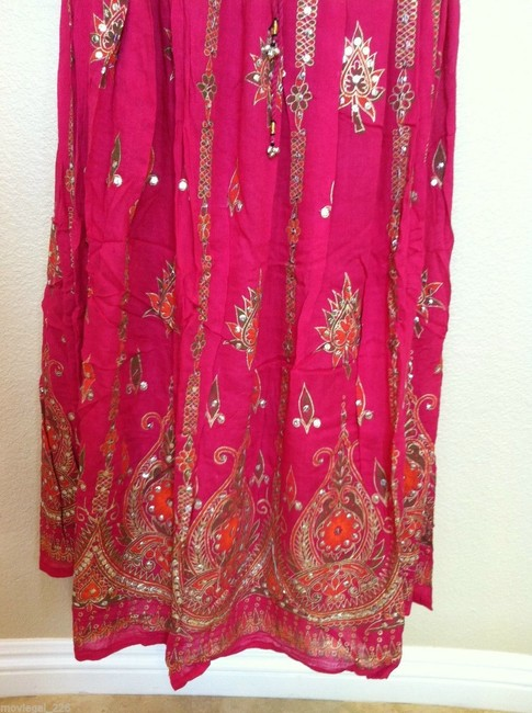 IK Collections Maxi Skirt Pink Image 6