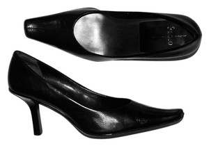 Linea Paolo Leather Clipped Toe Square Toe Slim Heel Sexy Comfortable Comfort Heels Career Office Date Date Night Party Fiesta Black Pumps