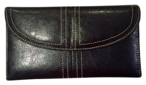 Buxton Buxton Black Leather Wallet