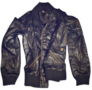 Calvin Klein Blac Leather Jacket