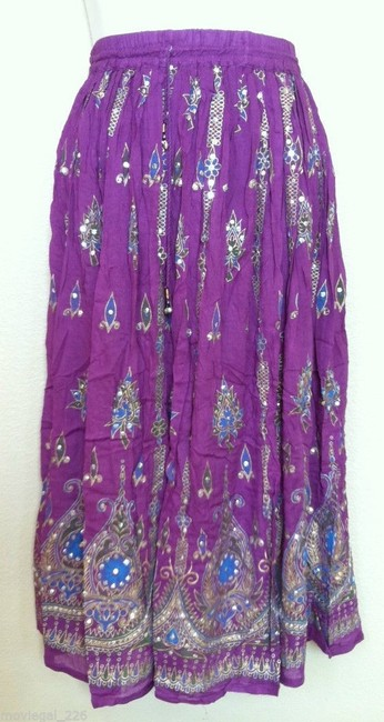 IK Collections Skirt Purple Image 2