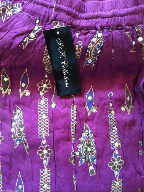 IK Collections Skirt Purple
